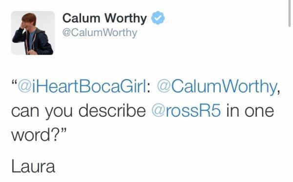 Calum's tweet ! ♥