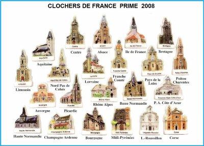 LES CLOCHERS DE FRANCE  PRIME  2008