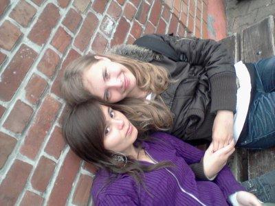 Elle et moi au collège <3