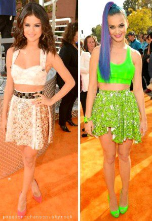 Katy et Selena au Kid's Choice Awards
