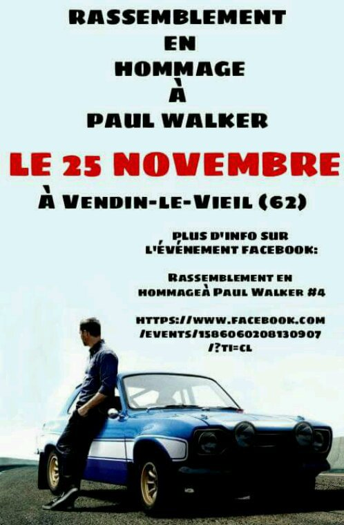 Hommage paul walker