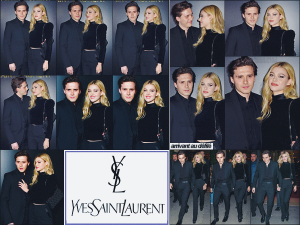 26/02/20 -Nicola Peltz& Brooklyn Beckhamétaient présents au défiléSaint Laurentde la FW de PARIS, FR ! Wowqu'ils sont mignons ces deux là ! Le petit couple portait une tenue classe, sobre et élégante, j'aime beaucoup  ••