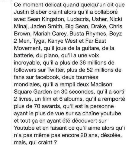 Remixe si tu respecte Justin Bieber ^.^