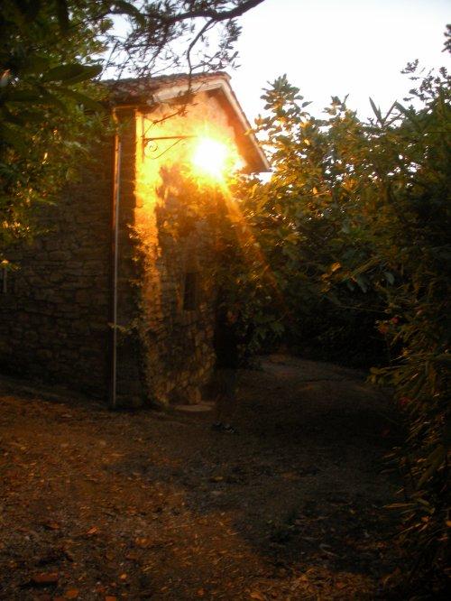 Coucher de soleil à deux pas de la maison