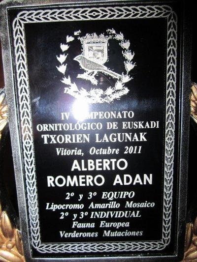 RESULTADOS CAMPEONATOS ORNITOLOGICOS DE BURGOS Y EUSKADI