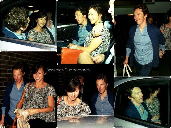 Benedict et sa femme, Sophie Hunter, sortant du Barbican Centre  + Premières reviews de la pièce dans la presse anglaise