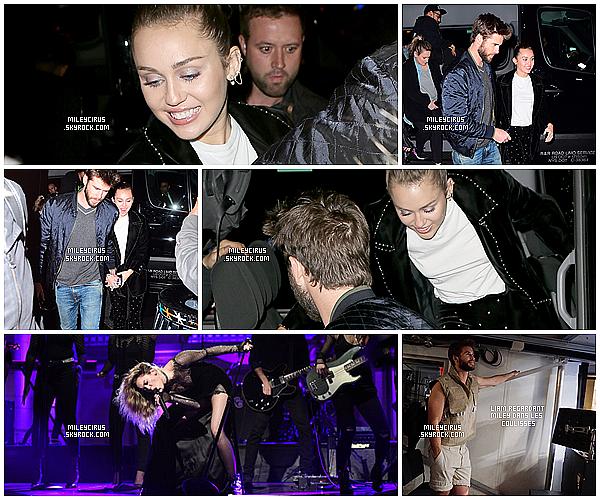 Le 04/11/2017 Miley et son fiancé Liam ont été vus arrivant à l'after party de l'émission SNL à New-York .