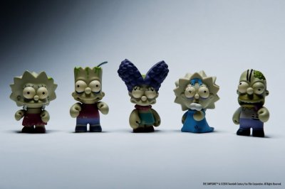 Kidrobot Simpson RARE The Simpson Zombies.