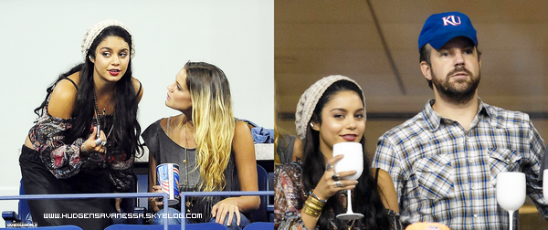 05 septembre 2011  ; Vanessa qui assiste au match de L'US Open avec Laura New et l'acteur Jason Sudeikis.