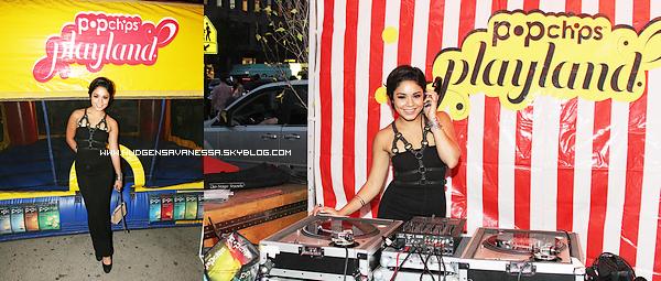 08 septembre 2011  ; Apparemment Vanessa à eu une journée et une soirée bien charger ,elle était à Popchips Playland à New York. J'en ai profité pour mettre des photos personnelles de Vanessa ,on peut voir qu'elle était avec Monique Coleman