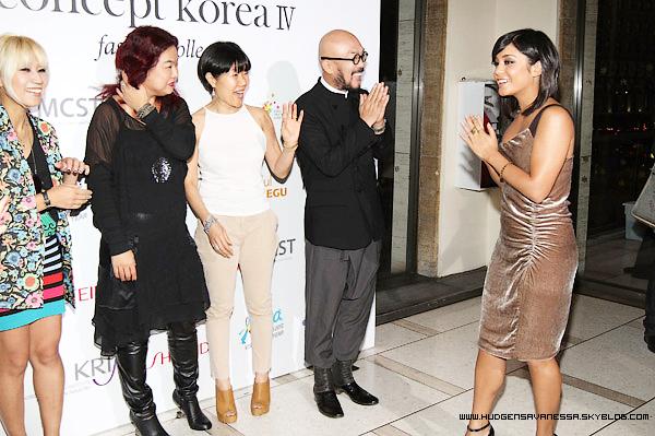 09 septembre 2011  ; Toujours à la Fashion Week ,Vanessa pose pour le Concept de Printemps Coréen .