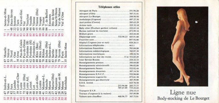 petit calendrier de poche  Le Bourget 1971