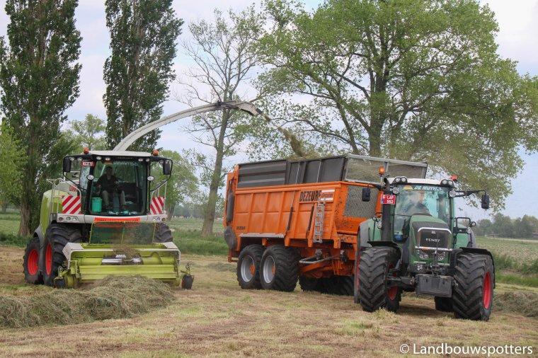 Claas Jaguar 960 gras hakselen met loonwerken Verplancke