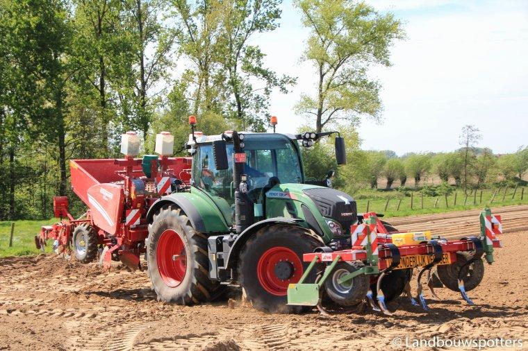 Fendt 1050 & 2x Fendt 720 aardappelen planten 2017