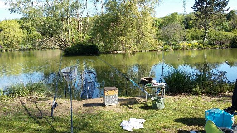 Première en duo dans l'étang privé de Servon (77)