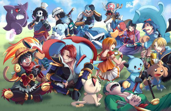 Coucou les fana de One Piece voici une petit image avec les Pokémone ^^