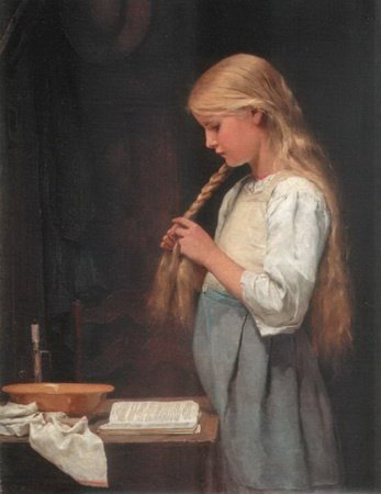 Jeune fille pipes