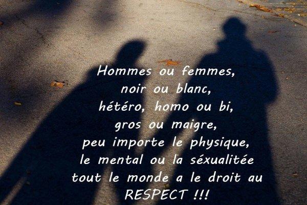 egalité et  respect