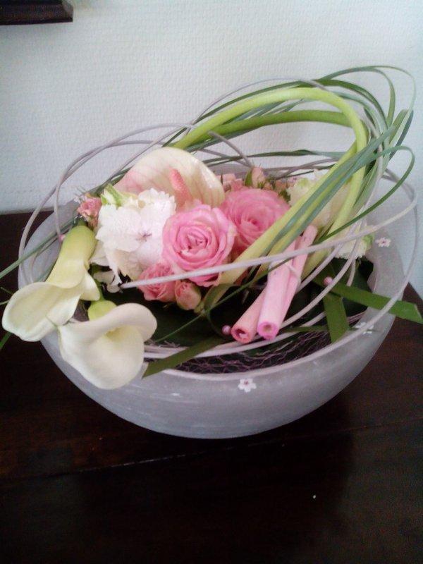 Avec quelques restes d'un bouquet...
