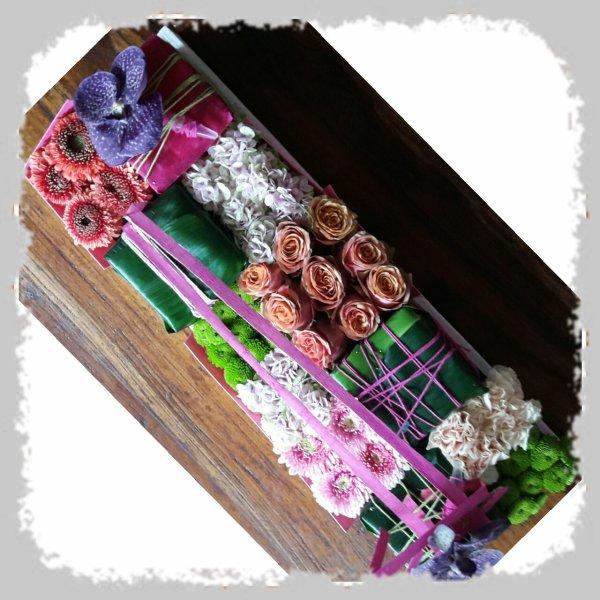 Damier floral atelier  chez Françoise Vandonink