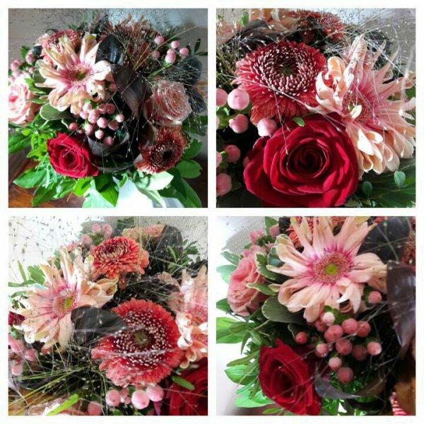 Toujours  agréable  de recevoir  un bouquet ....