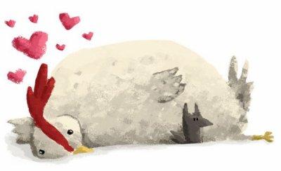 Le coeur d'une poule