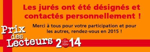 Livre de Poche : Prix des Lecteurs 2014, catégorie Littérature.
