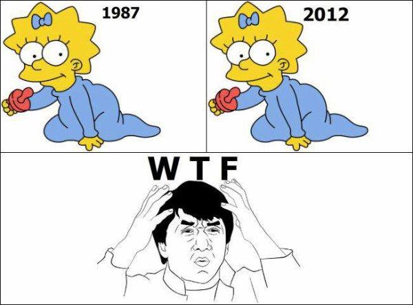 << Maggie >> Simpson : l'éternel bébé