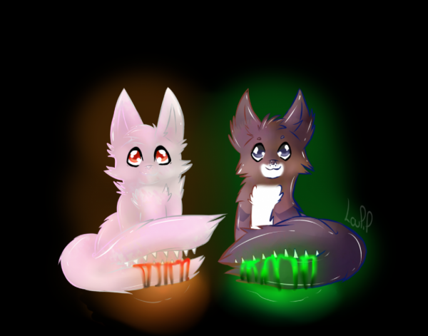 DESSIN : White et BrownClaw pour Ombr-Plume :3