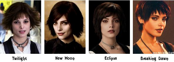 Alice et ses différentes coupes de cheveux