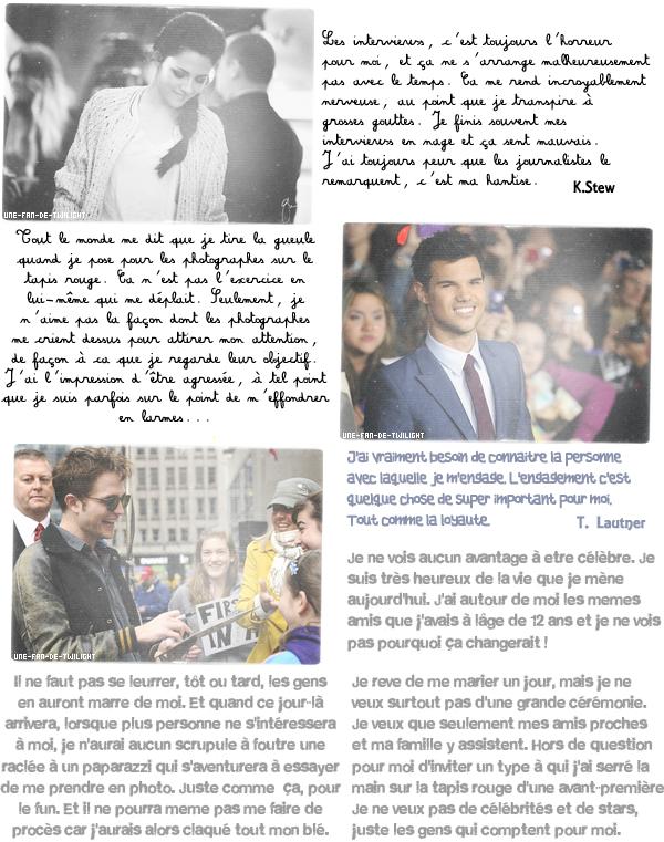Ce que les stars de Twilight nous révèlent