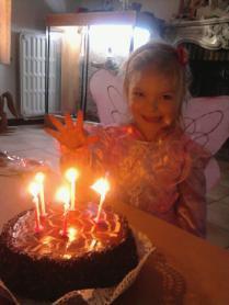 laurelyne le jours de ses 5 ans