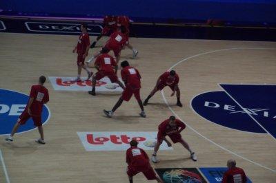 match de basket  mons-Gand