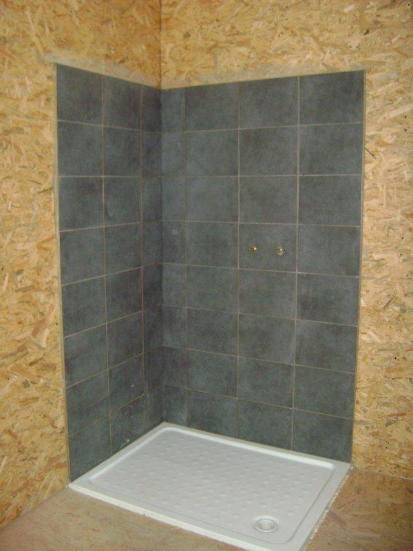 douche enfin carrelée