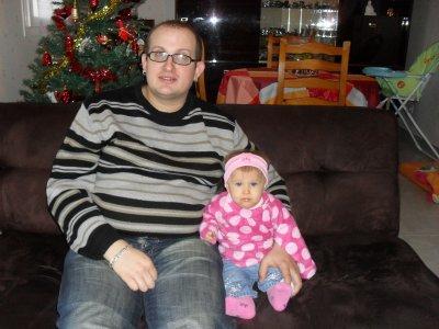 Clara avec sont papa