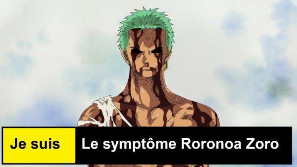 Je suis le Symptôme Roronoa Zoro !