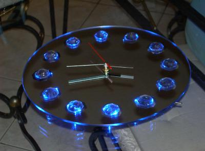 0 horloge miroir cr ation de sculptures et luminaires. Black Bedroom Furniture Sets. Home Design Ideas