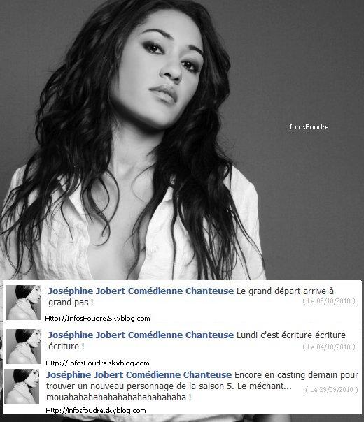 Tout les Messages de Joséphine Jobert Sur sont Facebook Officiel.