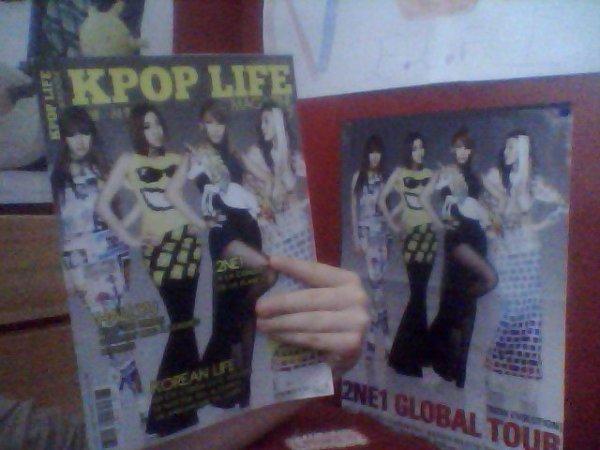 Mon magazine kpop life et Mon poster 2NE1