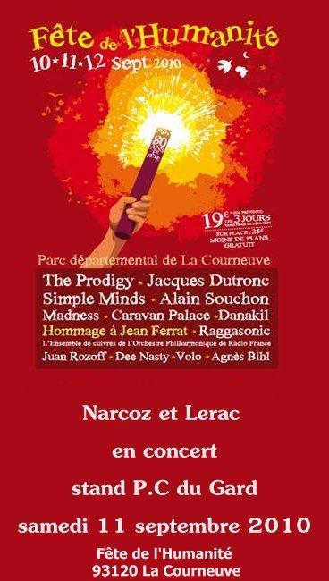 Narcoz et Lerac en live!! Fête de l'Humanité Parc de La Courneuve