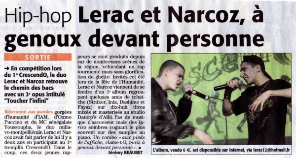 Promo Narcoz et Lerac tcheckk ça!!!