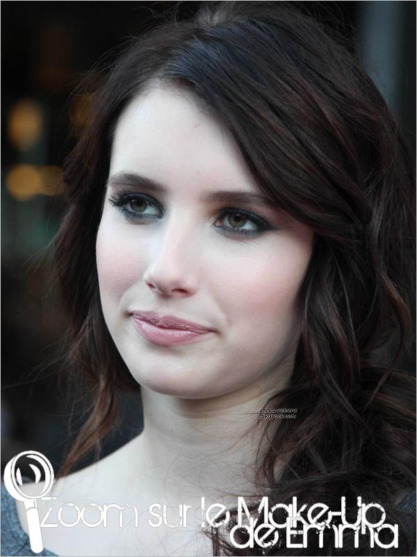 Donne ton avis sur le Make-Up et la coiffure de Emma, à la première de « It's Kind of a Funny Story »