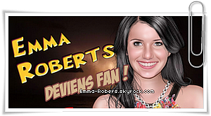 Emma-Robers vous présente  « Sara Dunn Photoshoot » datant ... cette année ! Tu aimes ?