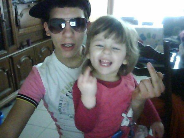 voila ma tite filleule et moi