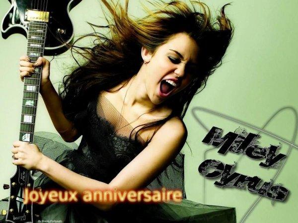 Joyeux anniversaire Miley