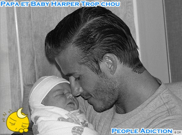 Enfants De star : Baby Harper la Merveilleuse Fille de Victoria et David Beckham