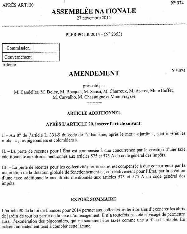 LA GAZETTE INFO TAXE POUR LES ABRIS DE JARDIN SUITE DU DOSSIER