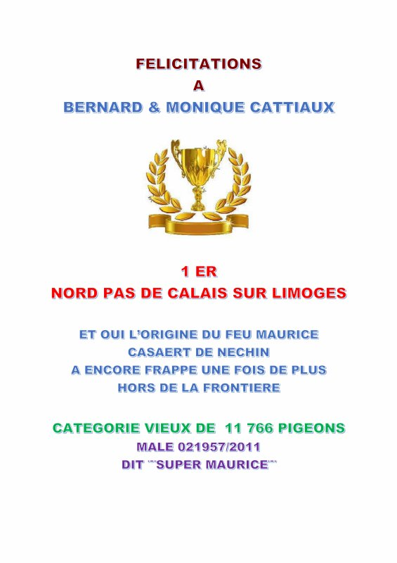 LA GAZETTE INFO BERNARD & MONIQUE CATTIAUX