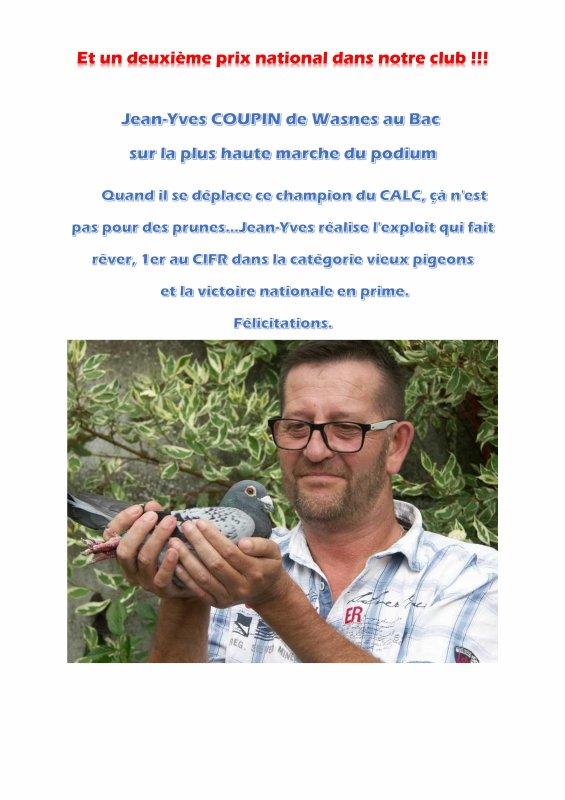 LA GAZETTE LU POUR VOUS JEAN YVES COUPIN DE LA REVANCHE HORNAING