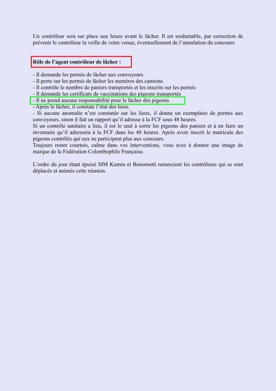 LA GAZETTE COMPTE RENDU COMMISSION DE CONTROLE 1 ER REGION  INFOS LU POUR VOUS 2018